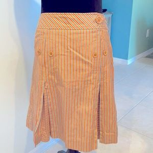 Marc Jacobs Pleated Striped School Girl Skirt